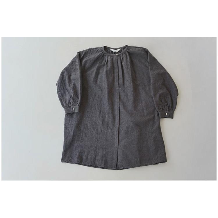 band collar neck gather shirt – MidiUmi –