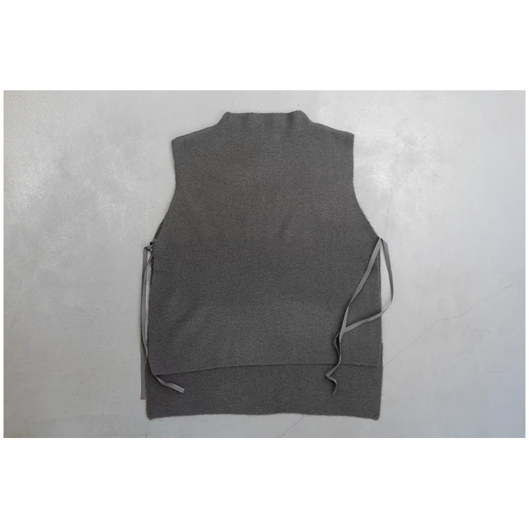 bottle neck side knot vest – MidiUmi –