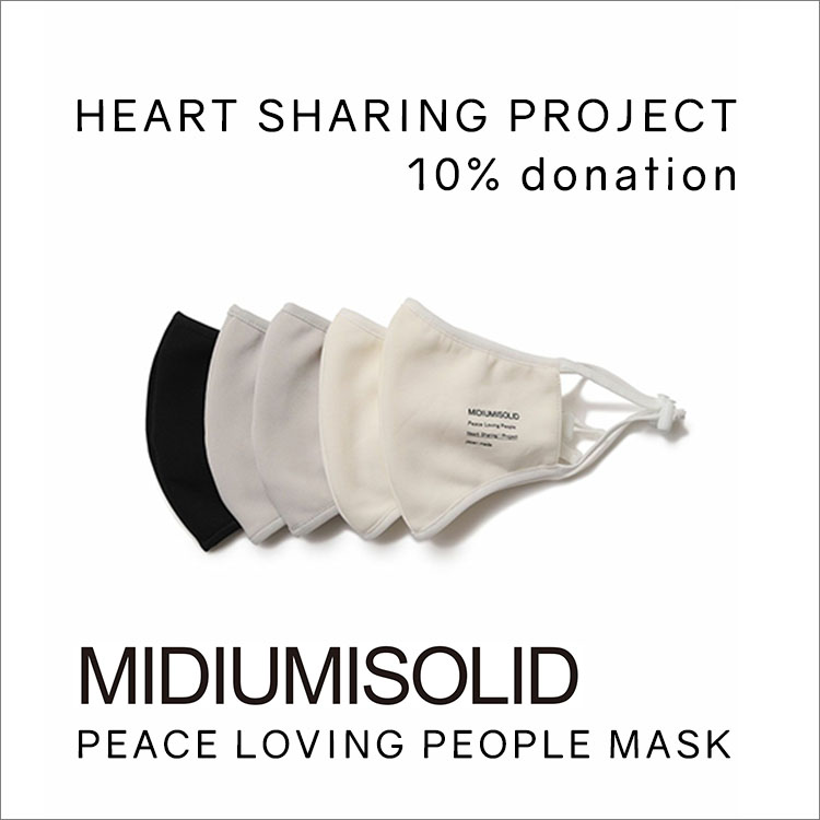 MIDIUMISOLID PEACE LOVING PEOPLE MASK(ピースラヴィングピープルマスク)RE ARRIVAL PRE ORDER