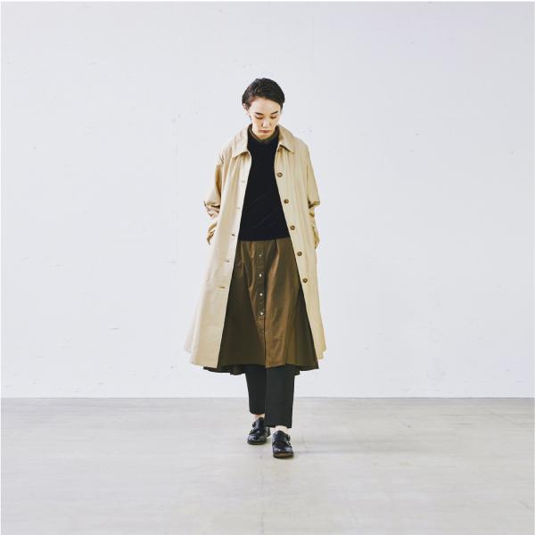 「大人の女性はこう着こなす。「ワンピース×○○」でつくる、秋のレイヤードスタイル – キナリノ掲載」の写真
