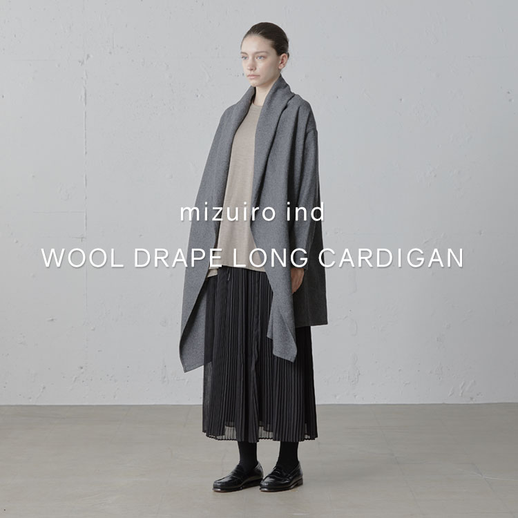 「mizuiro ind 「wool drape long cardigan」」の写真