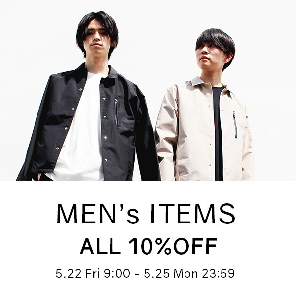 MEN's ITEMS ALL 10%OFF ...の写真
